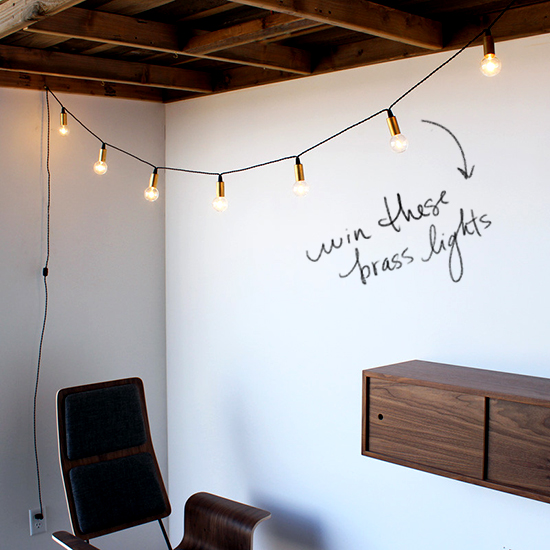 String Lights In Office: D E S I G N L O V E F E S T » GIVEAWAY / ONE FORTY THREE