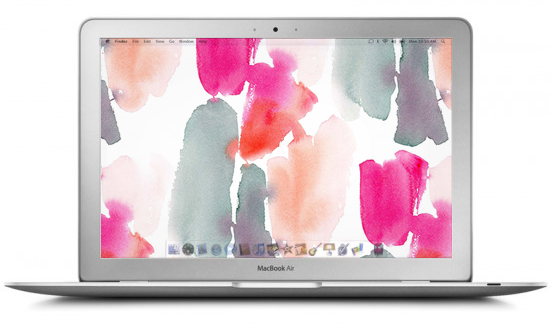 today we have these 5 beautiful watercolor desktops from kelly ventura ...