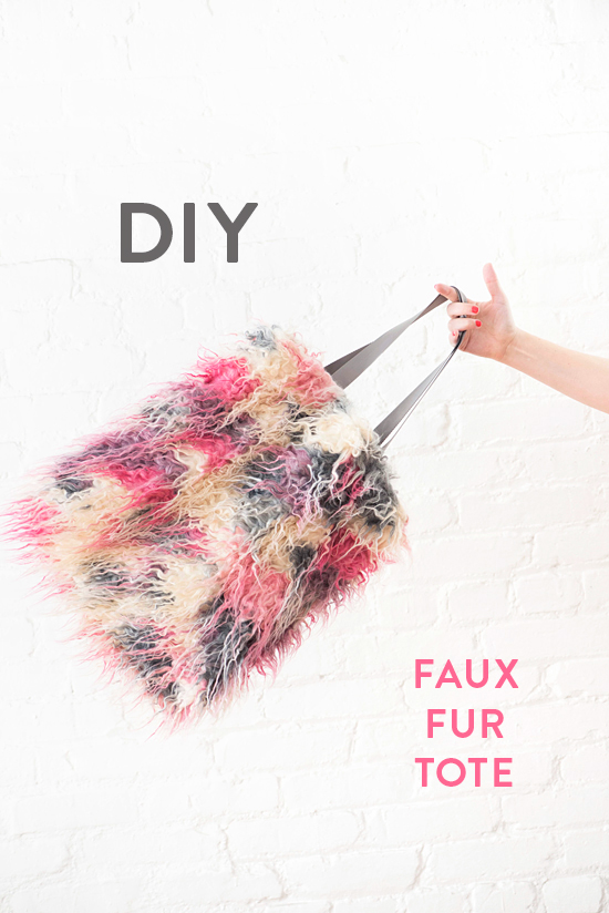 DIY faux fur tote | designlovefest