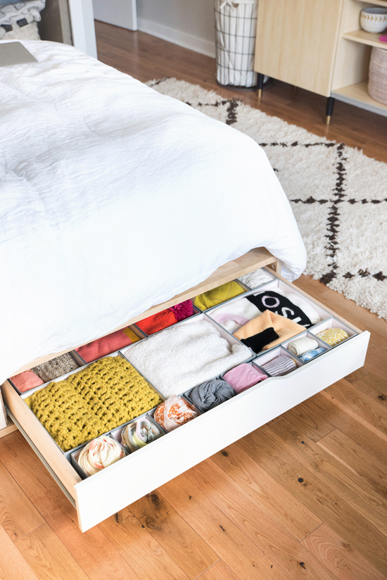 organize the bedroom | designlovefest