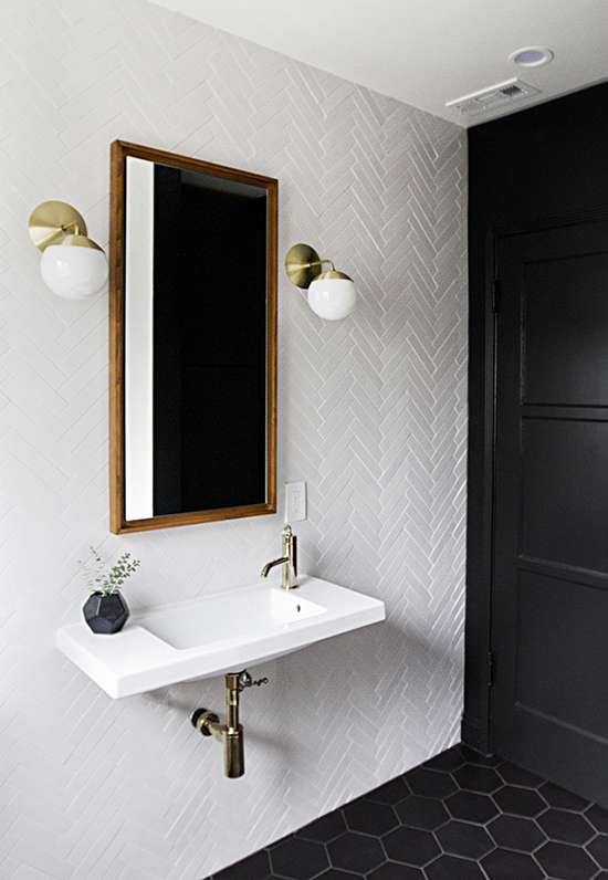 black bathroom ideas | designlovefest