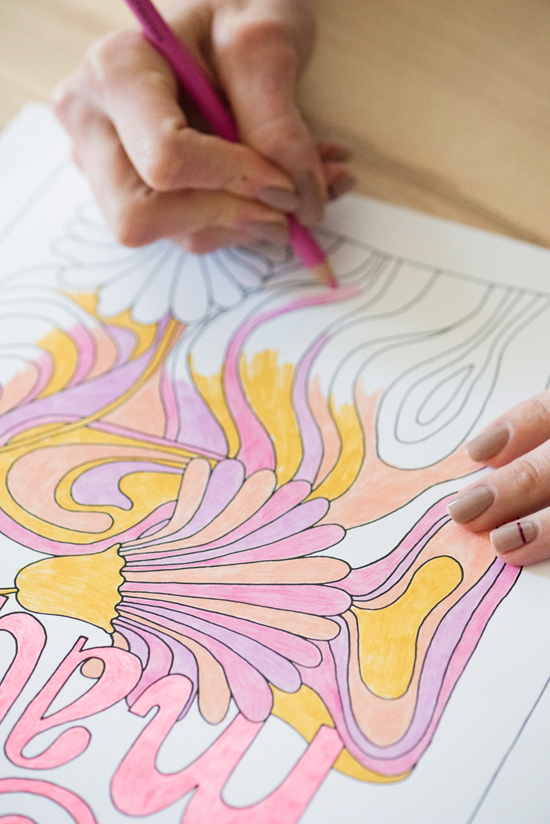 printable coloring poster | designlovefest