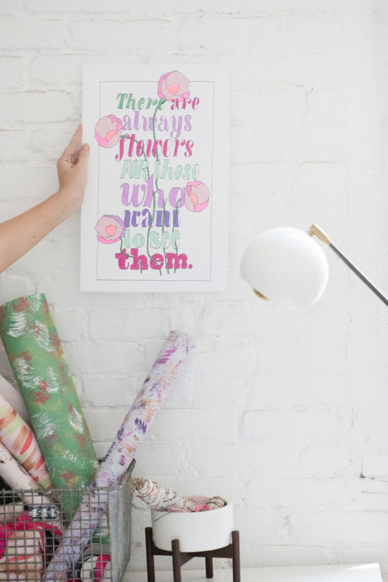 printable color posters | designlovefest