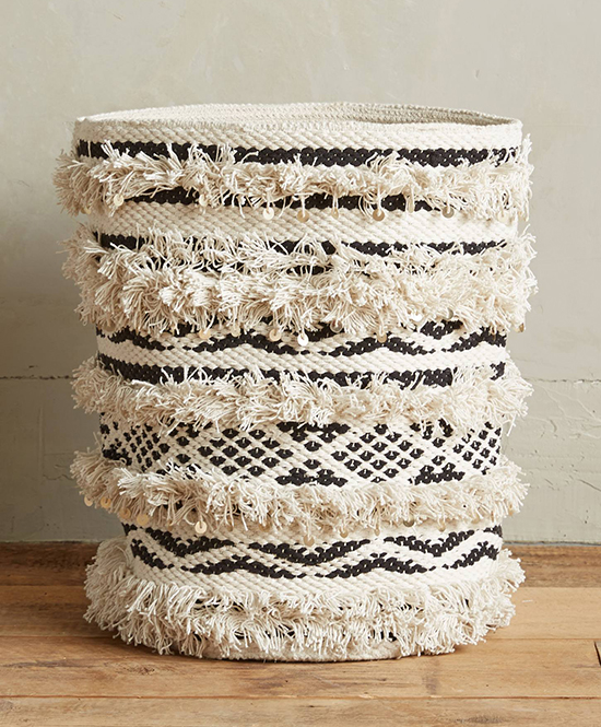 tuck away clutter in baskets | designlovefest