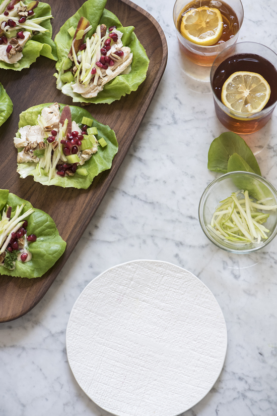 chicken salad lettuce wraps | designlovefest