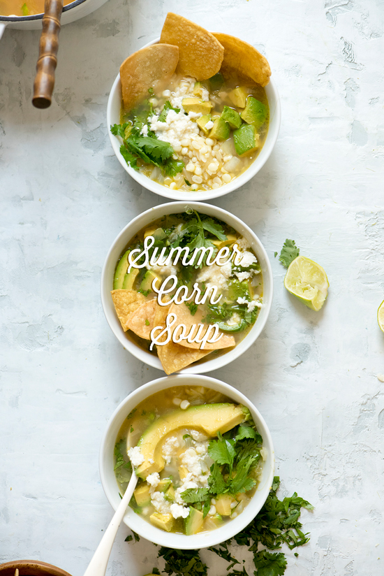 summer corn soup | designlovefest