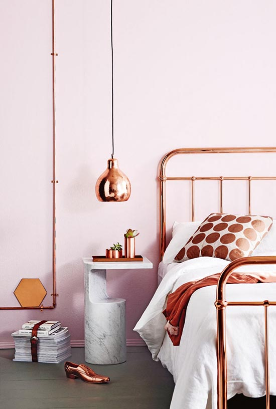 copper home decor accents | designlovefest