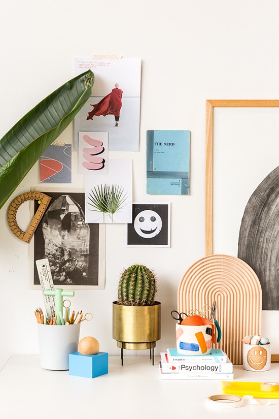desk space styling | designlovefest