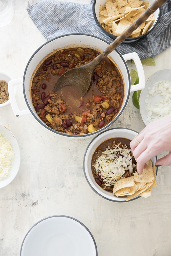 weeknight chili | designlovefest