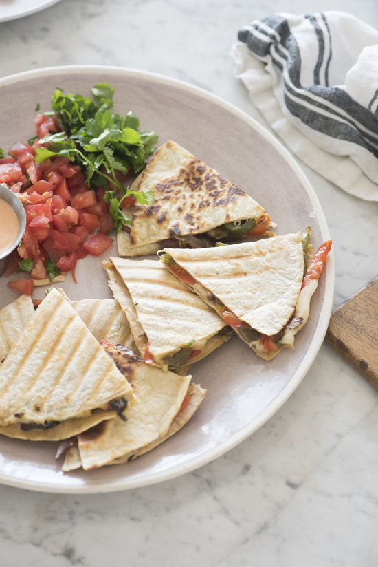 veggie quesadillas | designlovefest