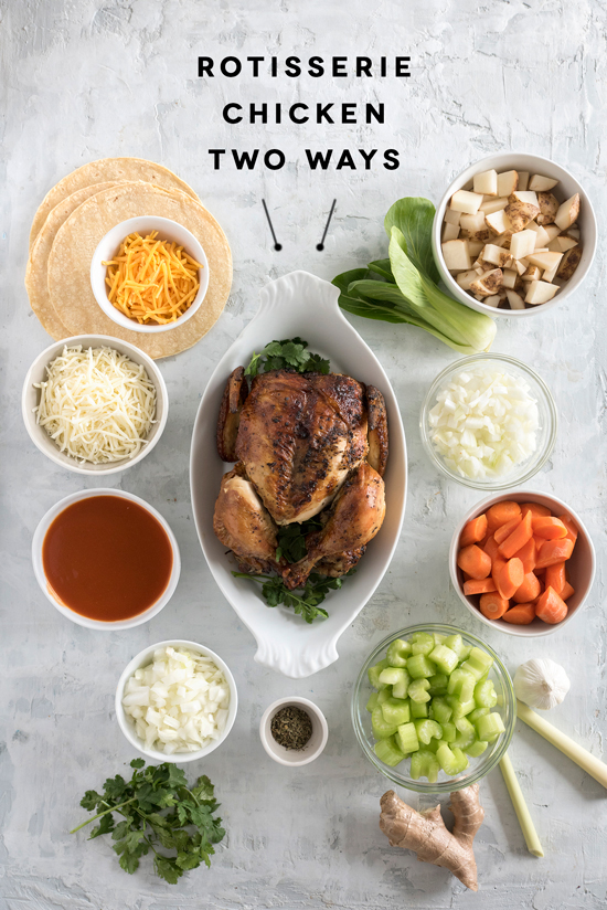 rotisserie chicken two ways | designlovefest