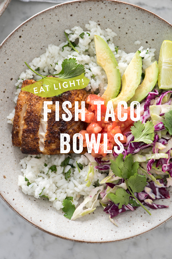 fish taco bowl | designlovefest