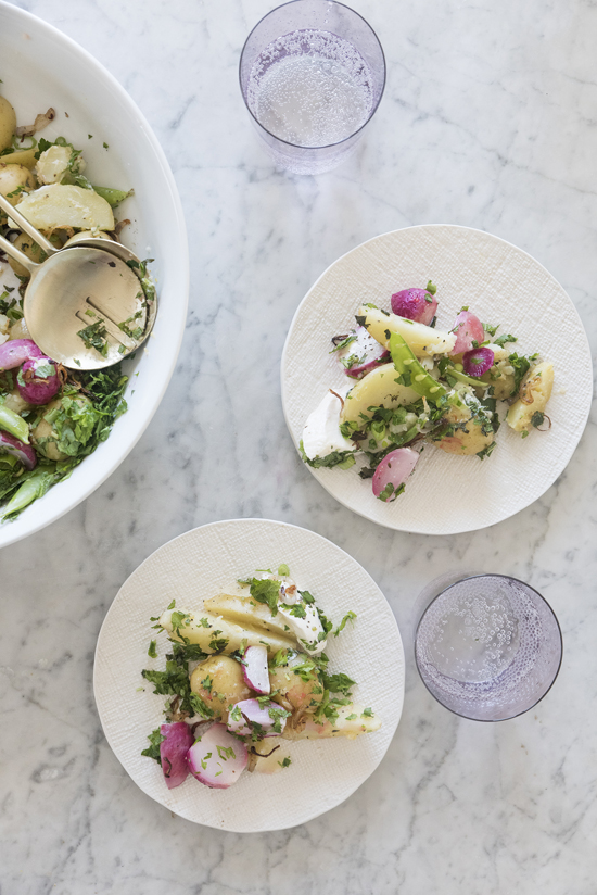 roasted potato and radish salad | designlovefest