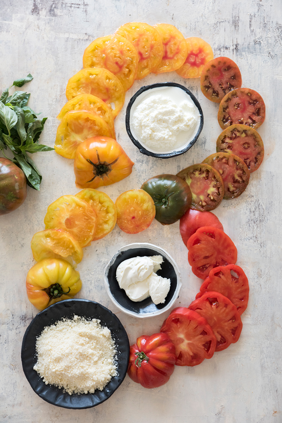 heirloom tomato tart | designlovefest