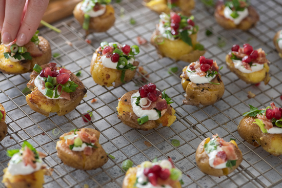 smashed potato appetizer | designlovefest