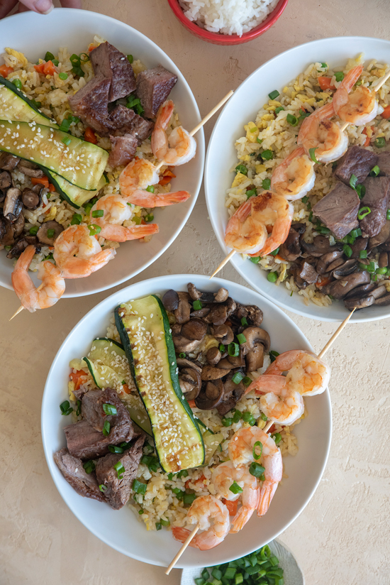 Benihana inspired dinner | designlovefest