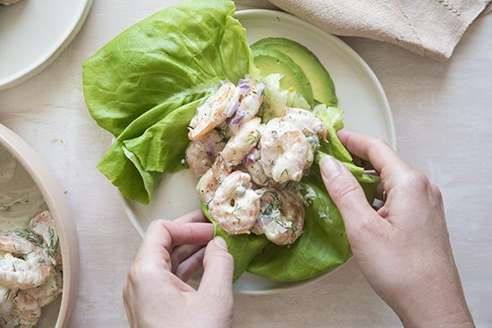 shrimp salad | designlovefest