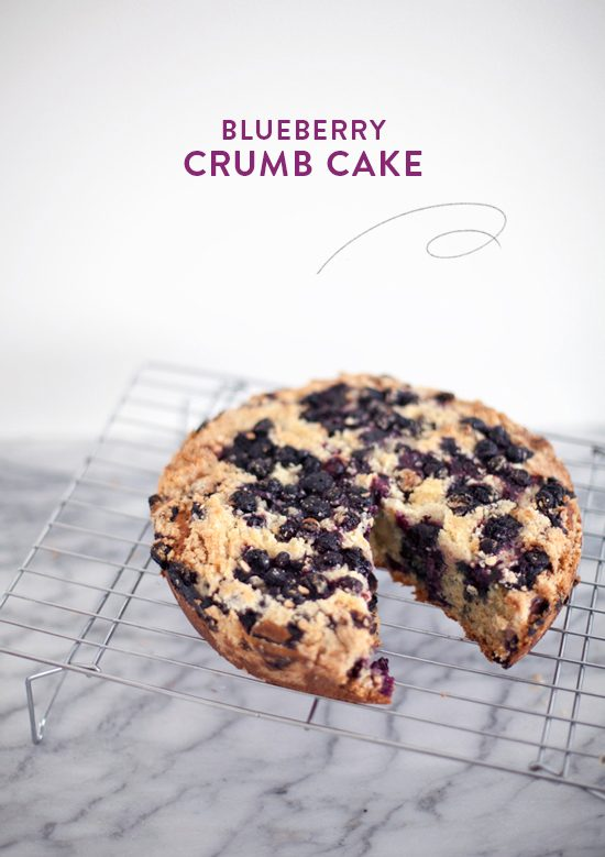 blueberry crumb cake | designlovefest