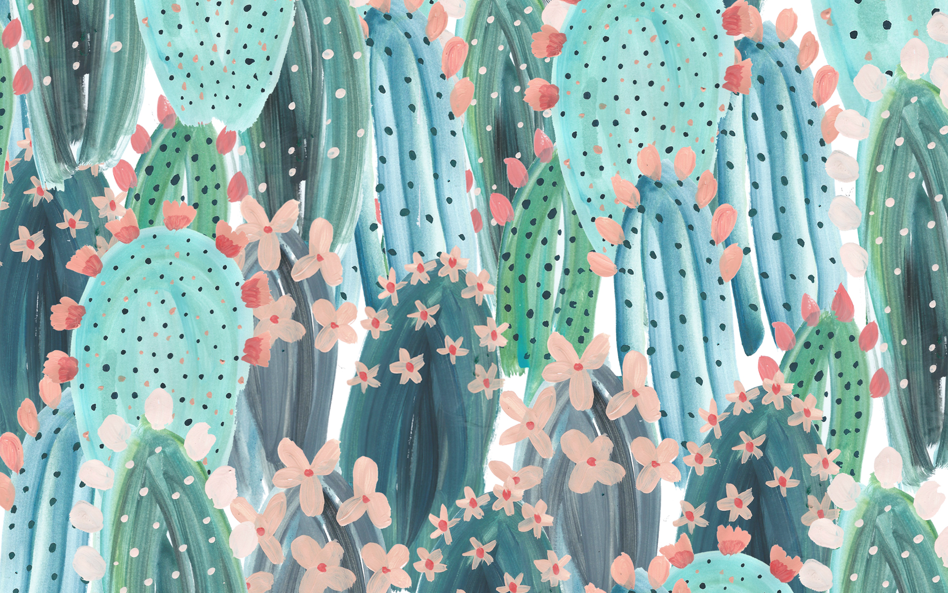cacti pattern desktop wallpaper designlovefest more